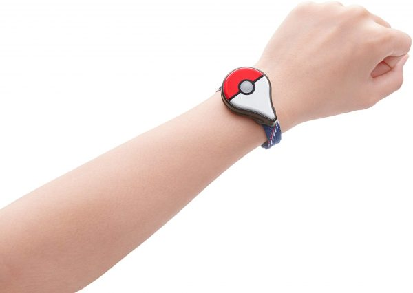 Pokemon Go Plus being worn as a bracelet