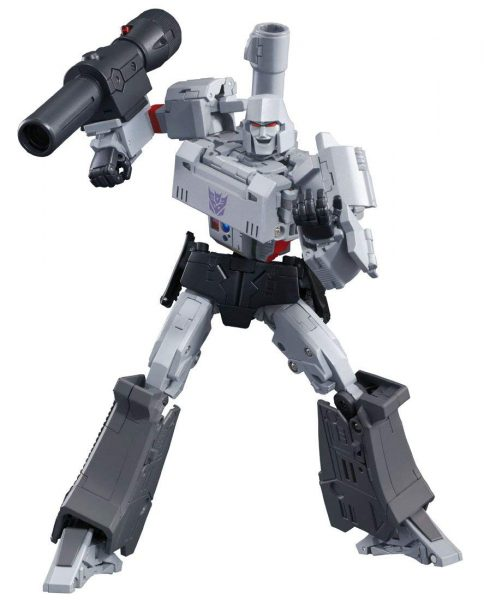 Megatron in his signature pose while in robot mode.