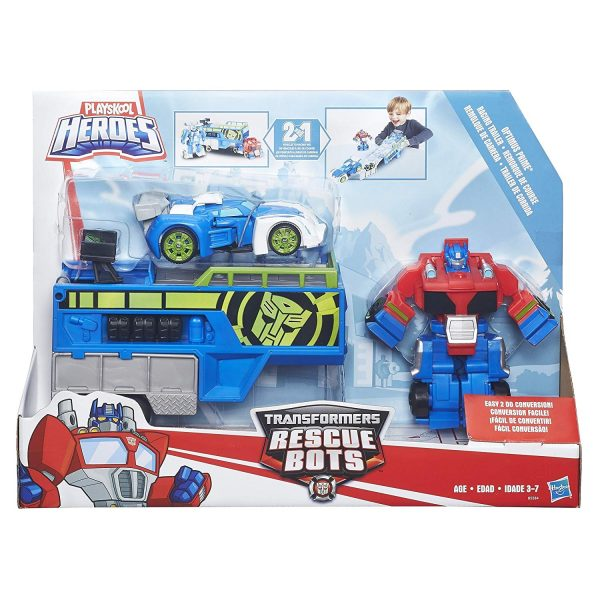 Optimus and his trailer in package.