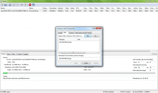halite torrent client user interface