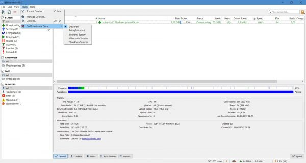qbittorrent user interface