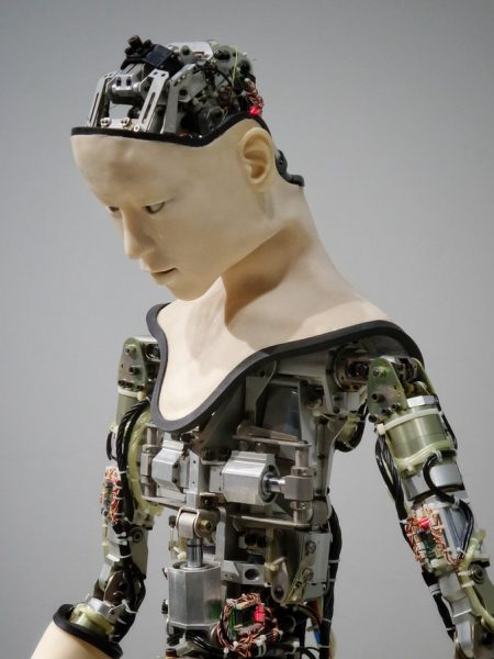 Robots with human skin