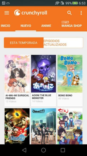 A look at Crunchyroll's mobile app