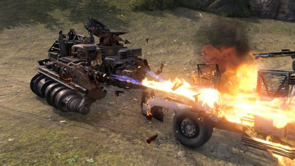 Battle other cars in intense vehicular combat