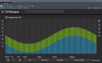 CCStepper is a MIDI plugin that allows you to create 8 sequences at once