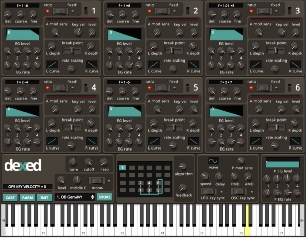 Dexed is a free VST plugin that mimics the DX7 synthesizer