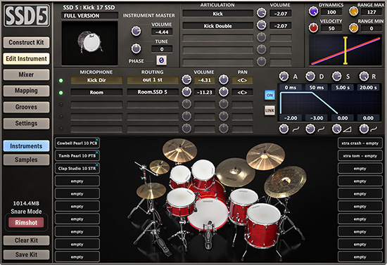 SSD5's free version is a great free VST plugin for drum audios