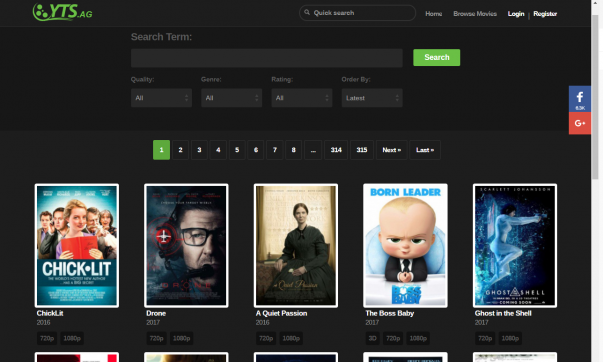 YIFY/YTS Proxy & Mirror Sites of 2019 (Guaranteed To Work)