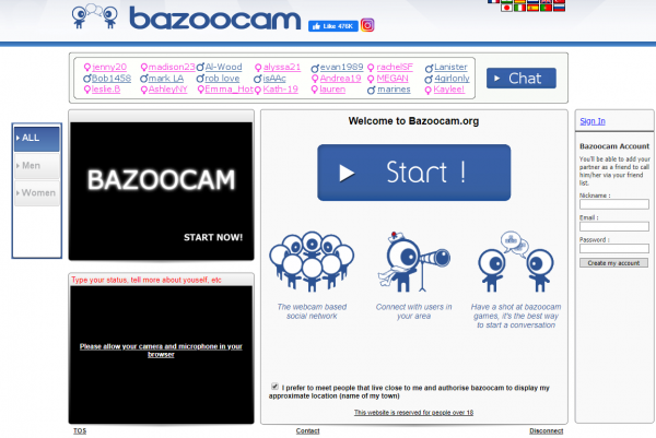 sites like omegle bazoocam