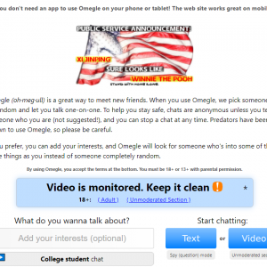 how to get omegle video