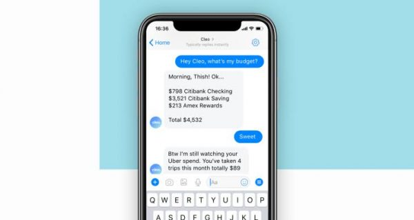 The Cleo AI chatbot can assess your finances across all accounts.