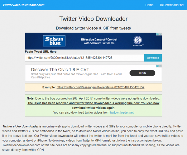 How to download twitter videos Step 3