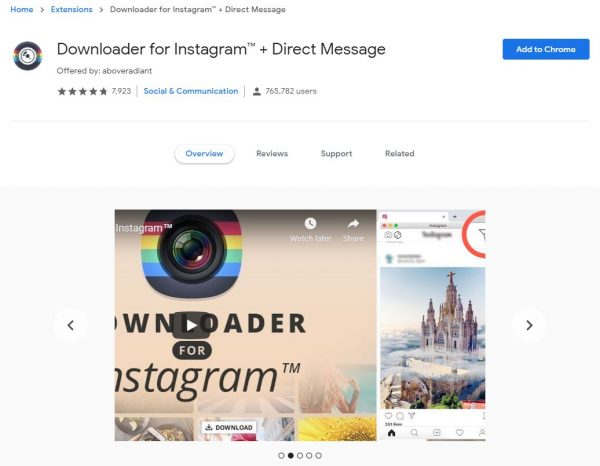 Slide into those DMs with the Downloader for Instagram extension.