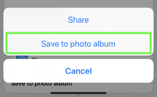 Save to photos when prompted during video download