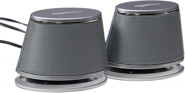 AmazonBasics USB-Powered Computer Speakers