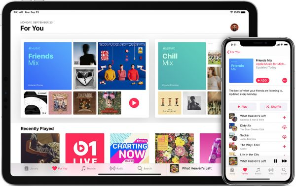 Apple Music's family sharing feature.