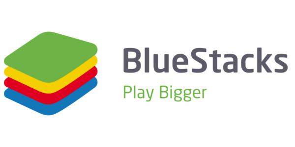 BlueStacks Logo: an Android emulator