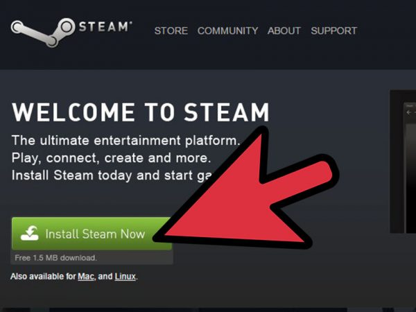 The first step to buying a game from Steam.
