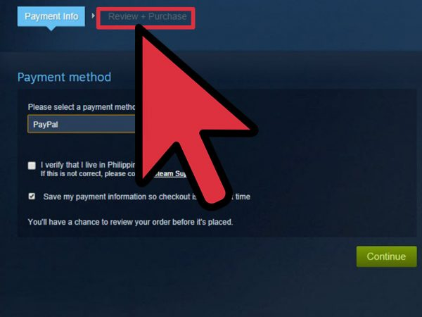 The final step to buying a game from Steam.