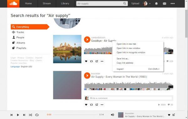 Copy Link Address on SoundCloud on PC