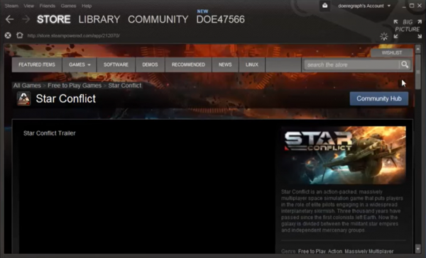 The second step to downloading a free game from Steam.