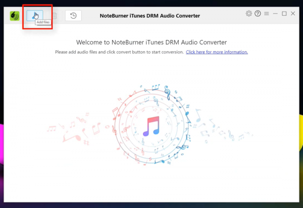 First step to downloading Apple Music using Noteburner.