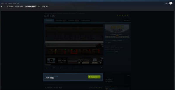 The first step to using Steam Workshop.