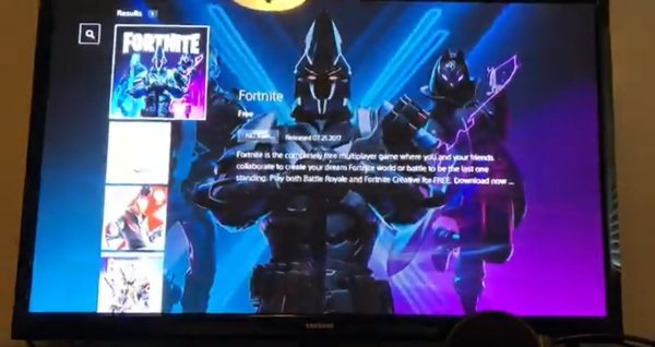 Fortnite is also available on PlayStation4