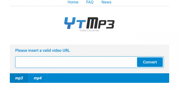 Youtube to Mp3 downloader interface
