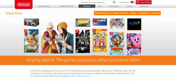 buy games from the eshop
