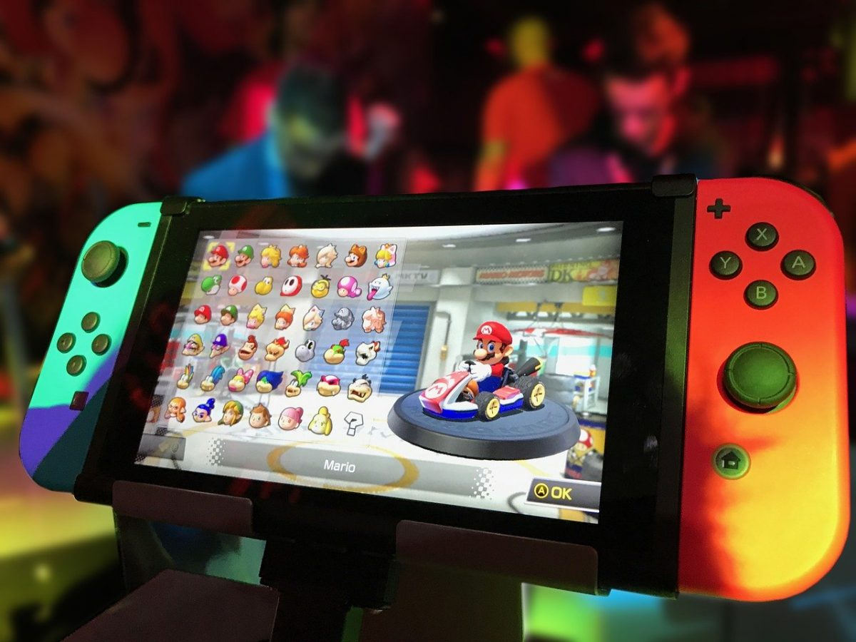 nintendo switch in action