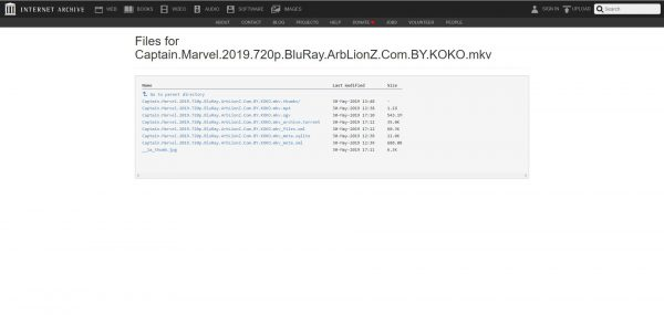 Internet Archive to watch Marvel Movies