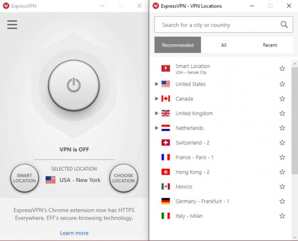 Netflix with VPN ExpressVPN server