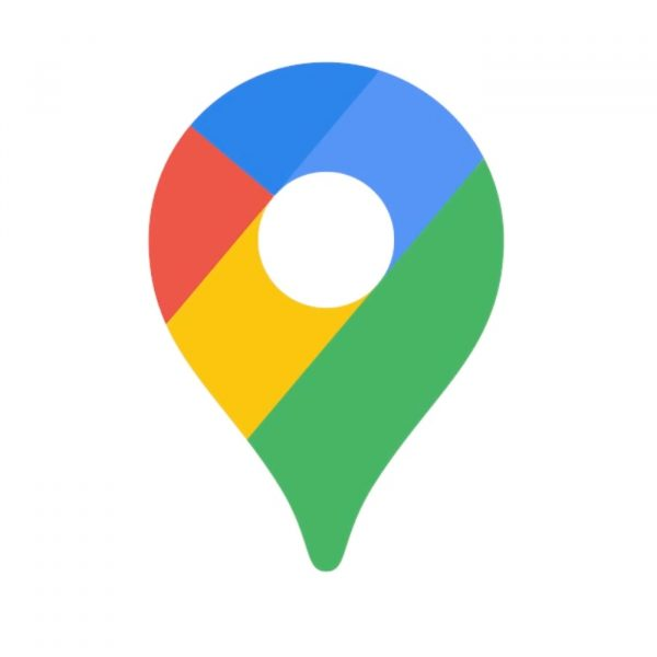 The official logo of Google Maps, one of the best navigation apps.