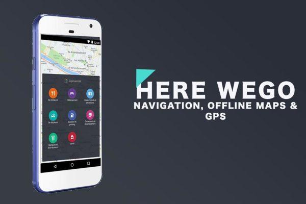 The official logo of the HereWeGo Maps navigation app.