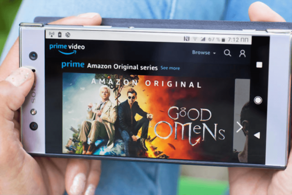 Good Omens Movies streaming website on Mobile Phone screen