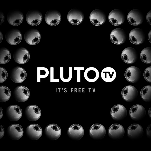 The logo for the Pluto TV streaming app.