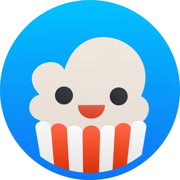 The logo for the Popcorn Time streaming app.