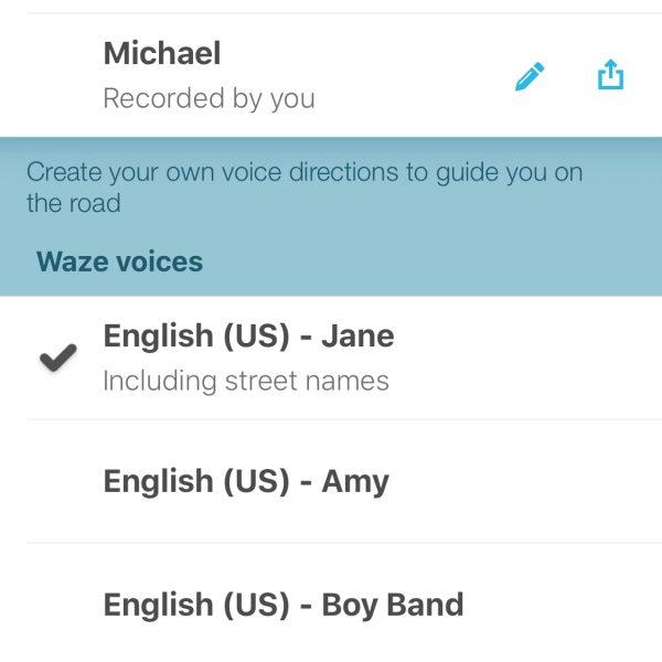 Waze voices