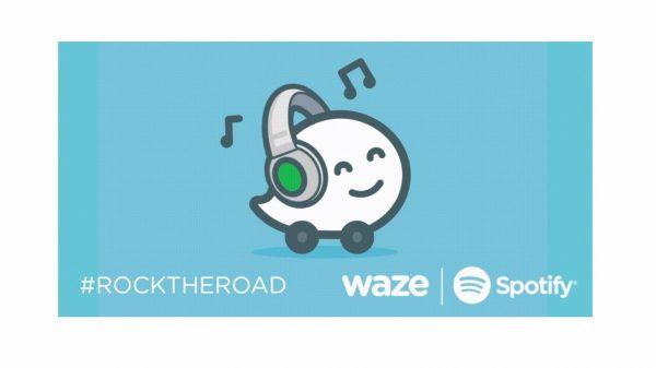 Waze and Spotify