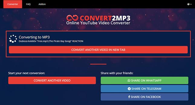 Convert2Mp3 video converter