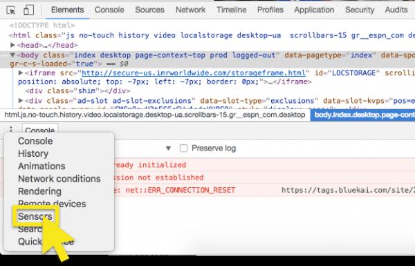 Developer Options Configuration