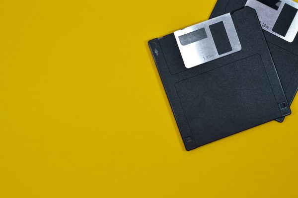 diskettes on surface