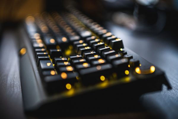 mechanical keyboard closeup