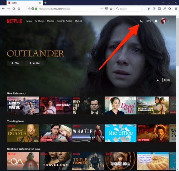 netflix search bar