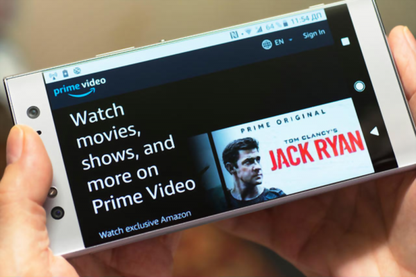 Amazon Prime Video, Movies streaming, Shows Website, Site screen on Android Smartphone Mobile Phone