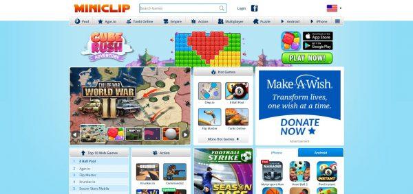 Miniclip, a flash game website.