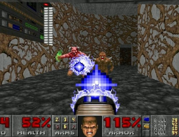 Doom, a classic FPS game made available for Flash.