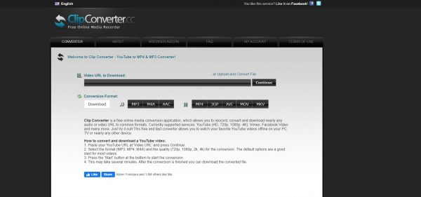 ClipConverter, a third-party conversion app.