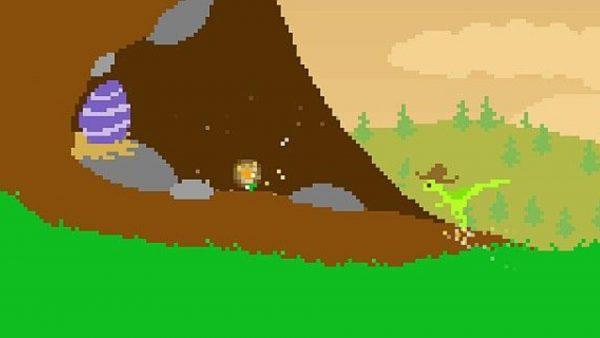 Dino Run, an endless runner flash game.